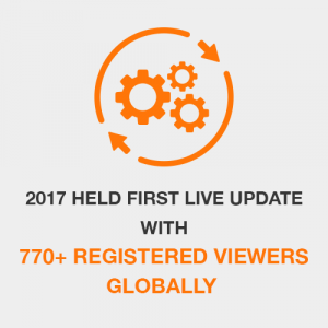 2017 Held First Live Update with 770+ Registered Viewers Globally